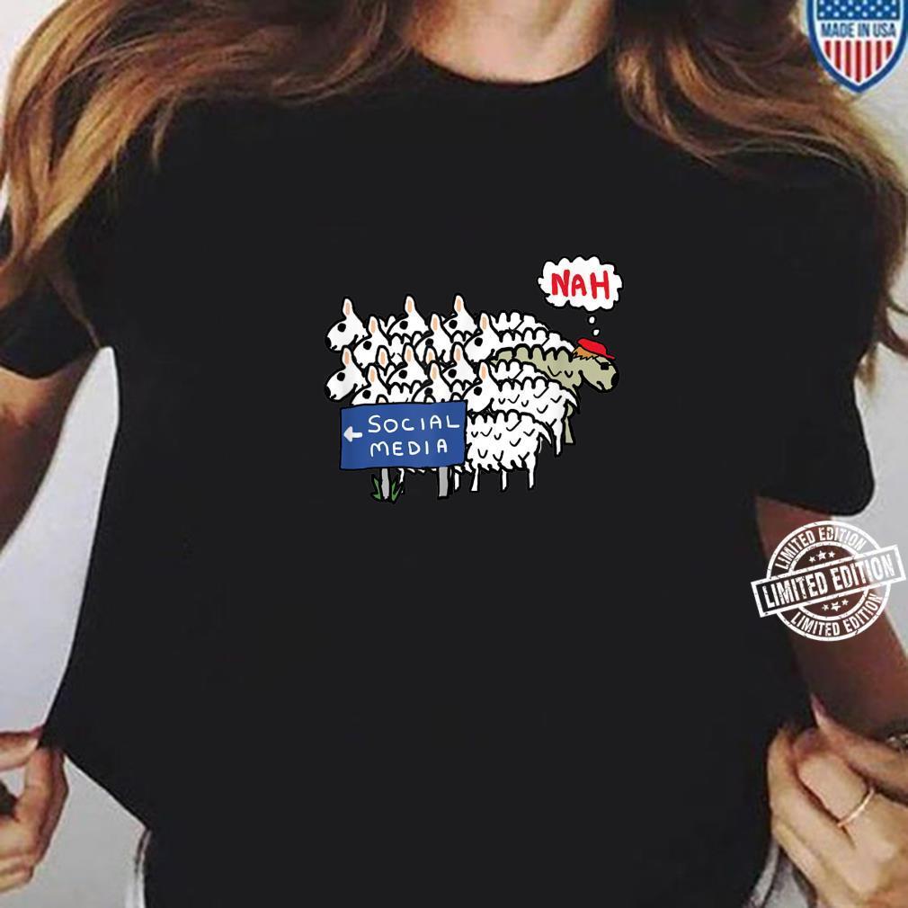 Anti Social Media Shirt ladies tee