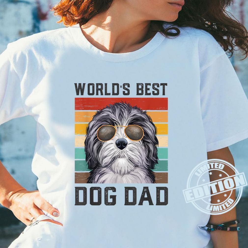 Best Dog Dad Vintage Doxiepoo Shirt ladies tee