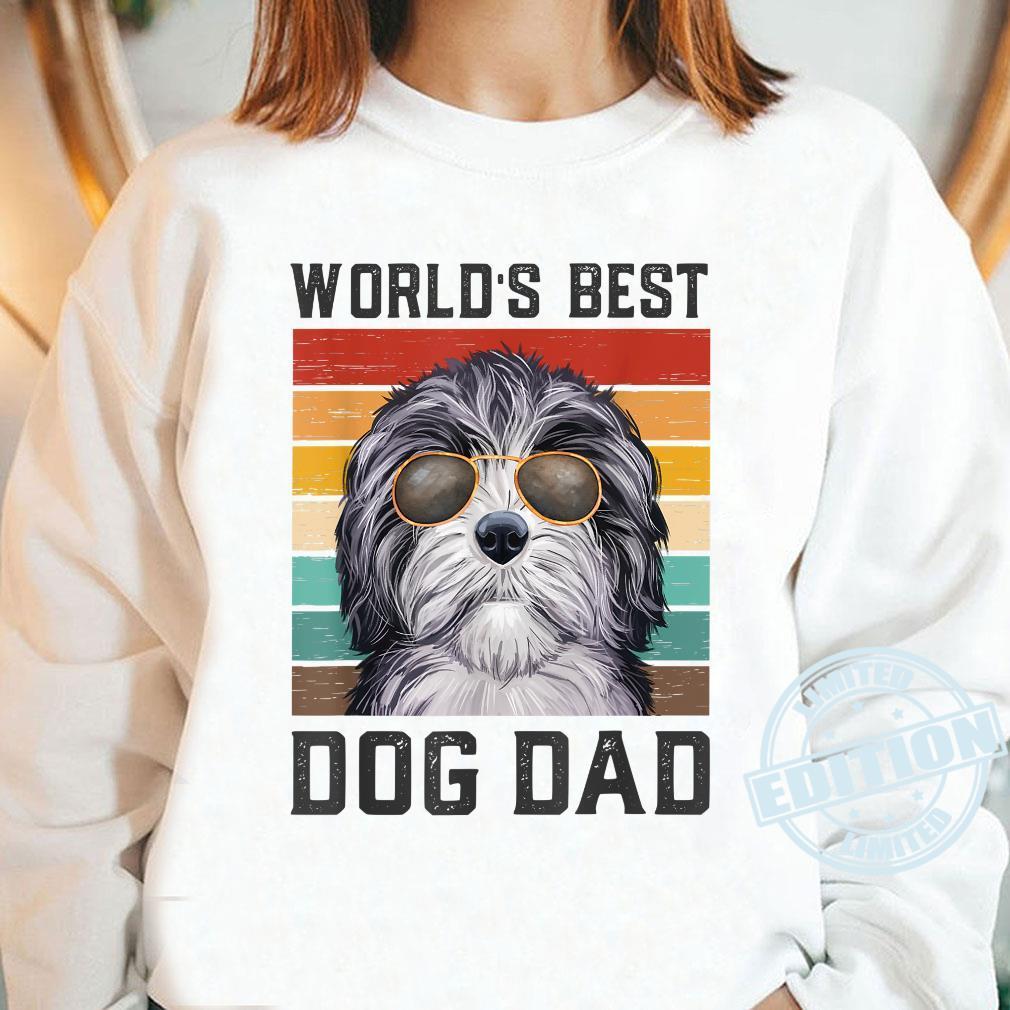 Best Dog Dad Vintage Doxiepoo Shirt long sleeved