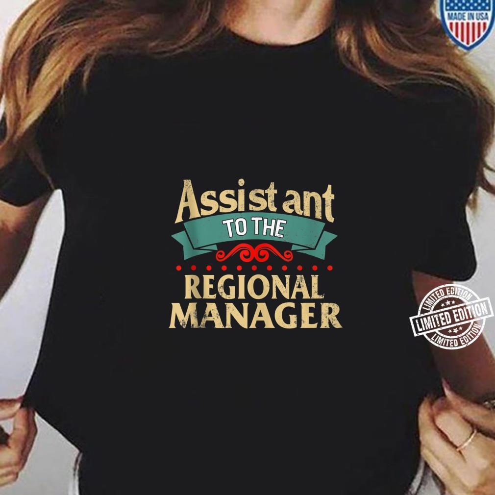 Daddy and Me Matching Assistant to Regional Manager Dad Son Shirt ladies tee