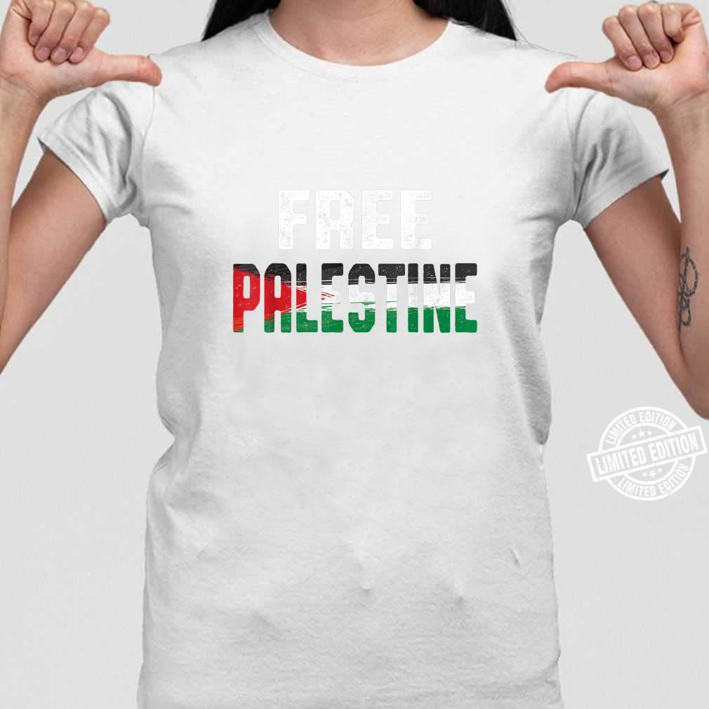 Free Palestine and Shirt ladies tee