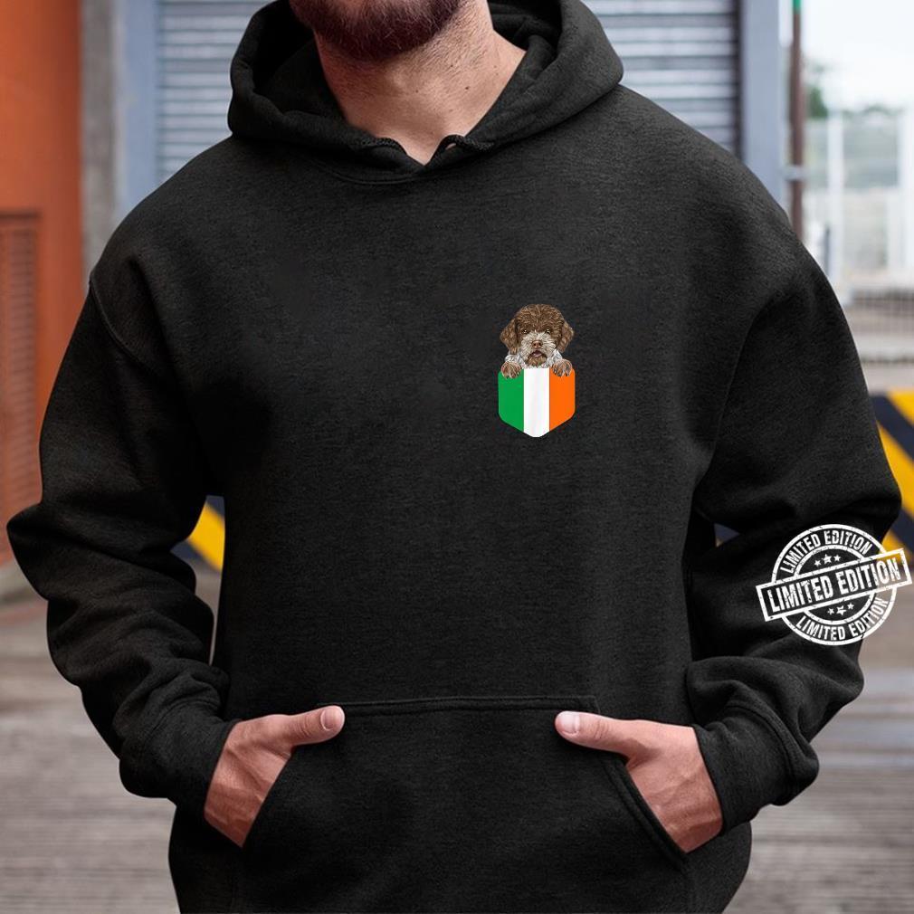 Ireland Flag Lagotti Romagnoli Dog In Pocket Shirt hoodie