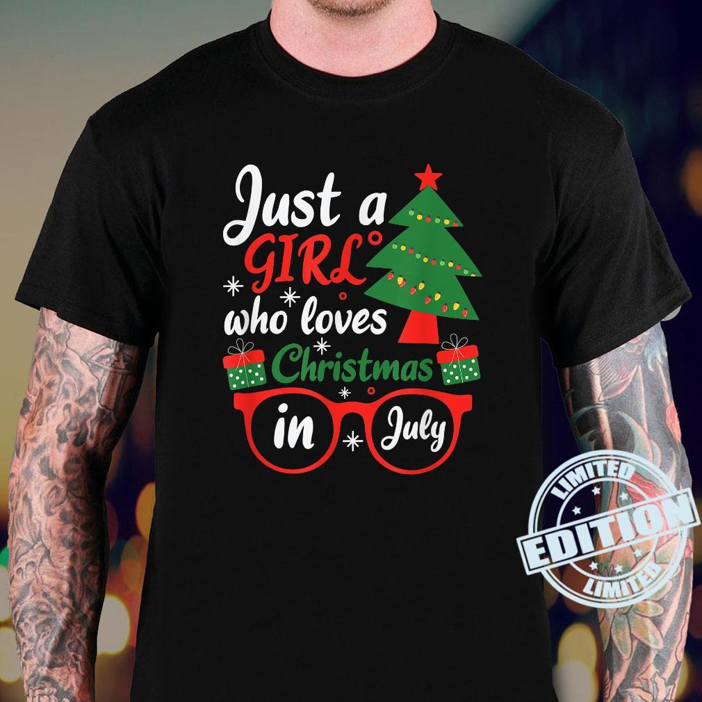 Just A Girl Who Loves Christmas In July Shirt Summer Shirt sweater