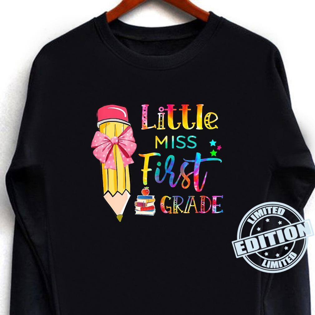 Kids Little Miss First Grade Go To School First Day Shirt long sleeved