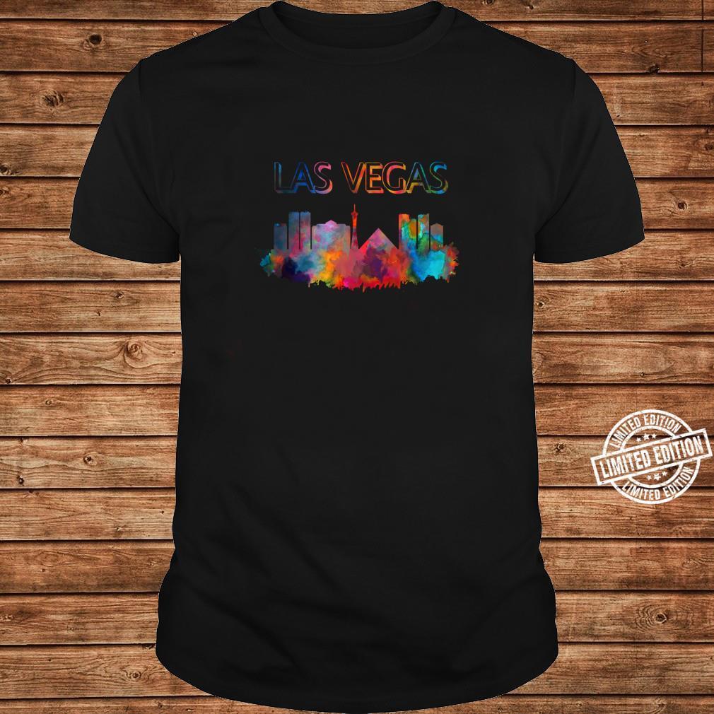 Las Vegas Skyline Cityscape City Metropole Shirt long sleeved