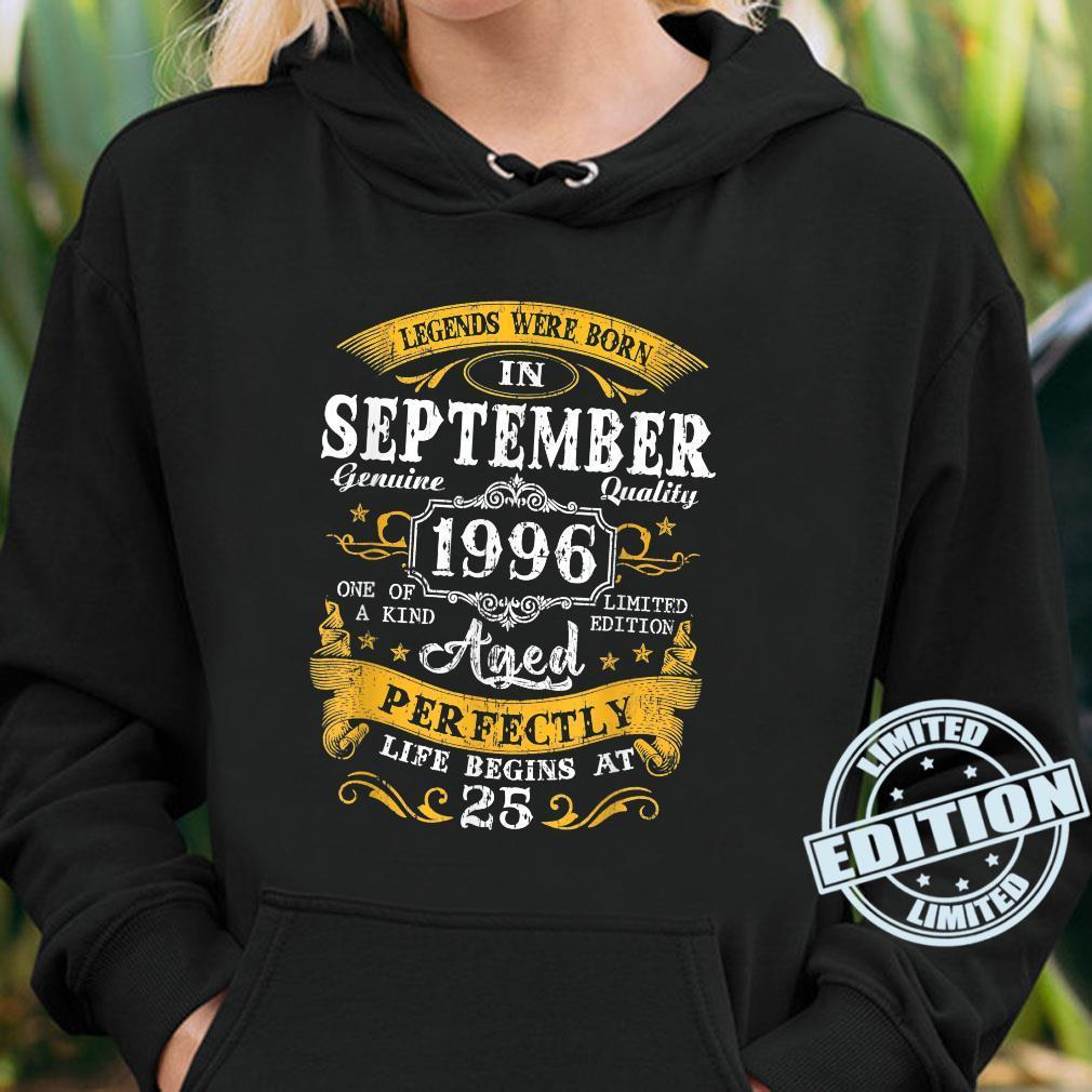 Legends Were Born In September 1996 25Th Birthday Shirt hoodie