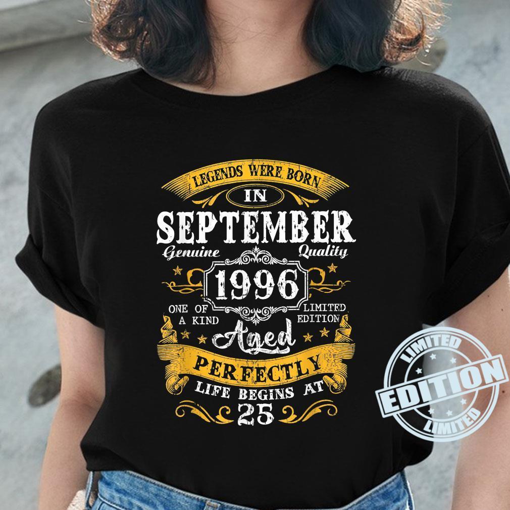 Legends Were Born In September 1996 25Th Birthday Shirt ladies tee