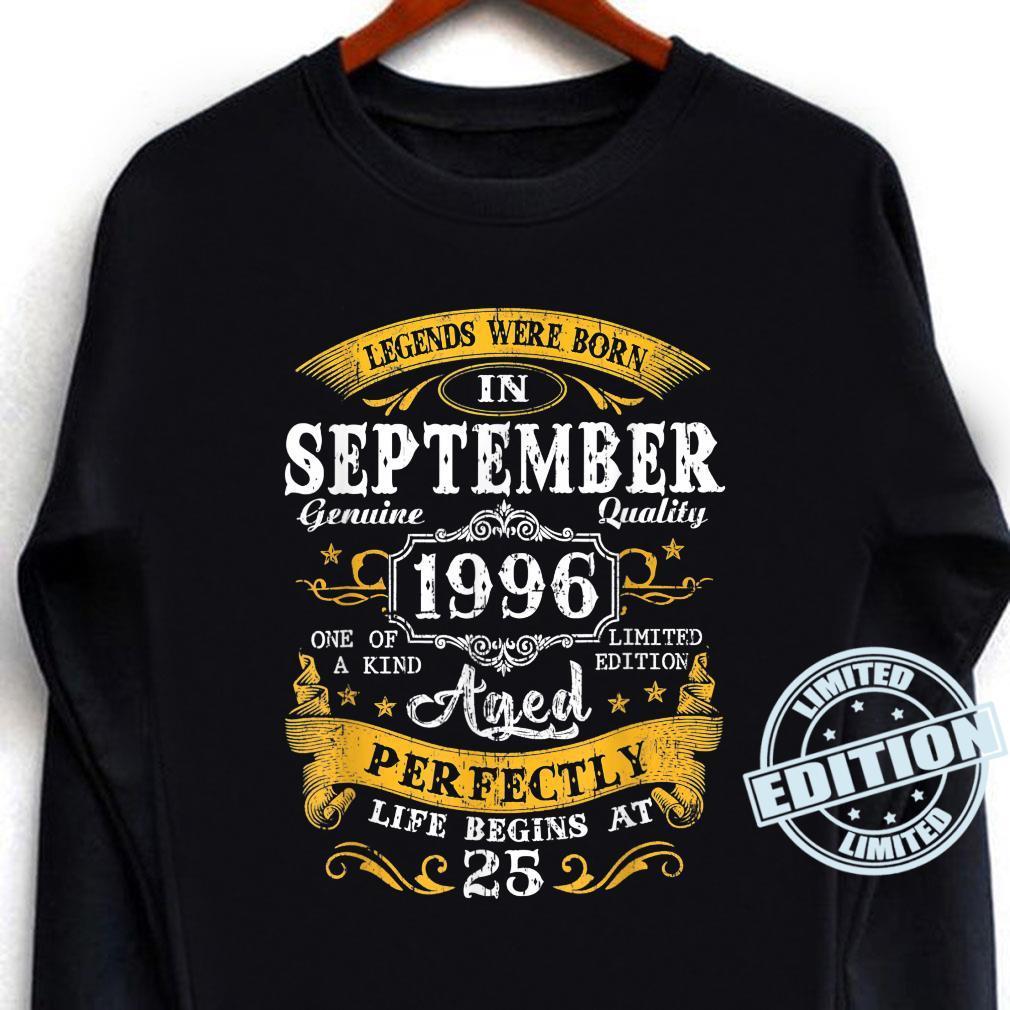 Legends Were Born In September 1996 25Th Birthday Shirt long sleeved