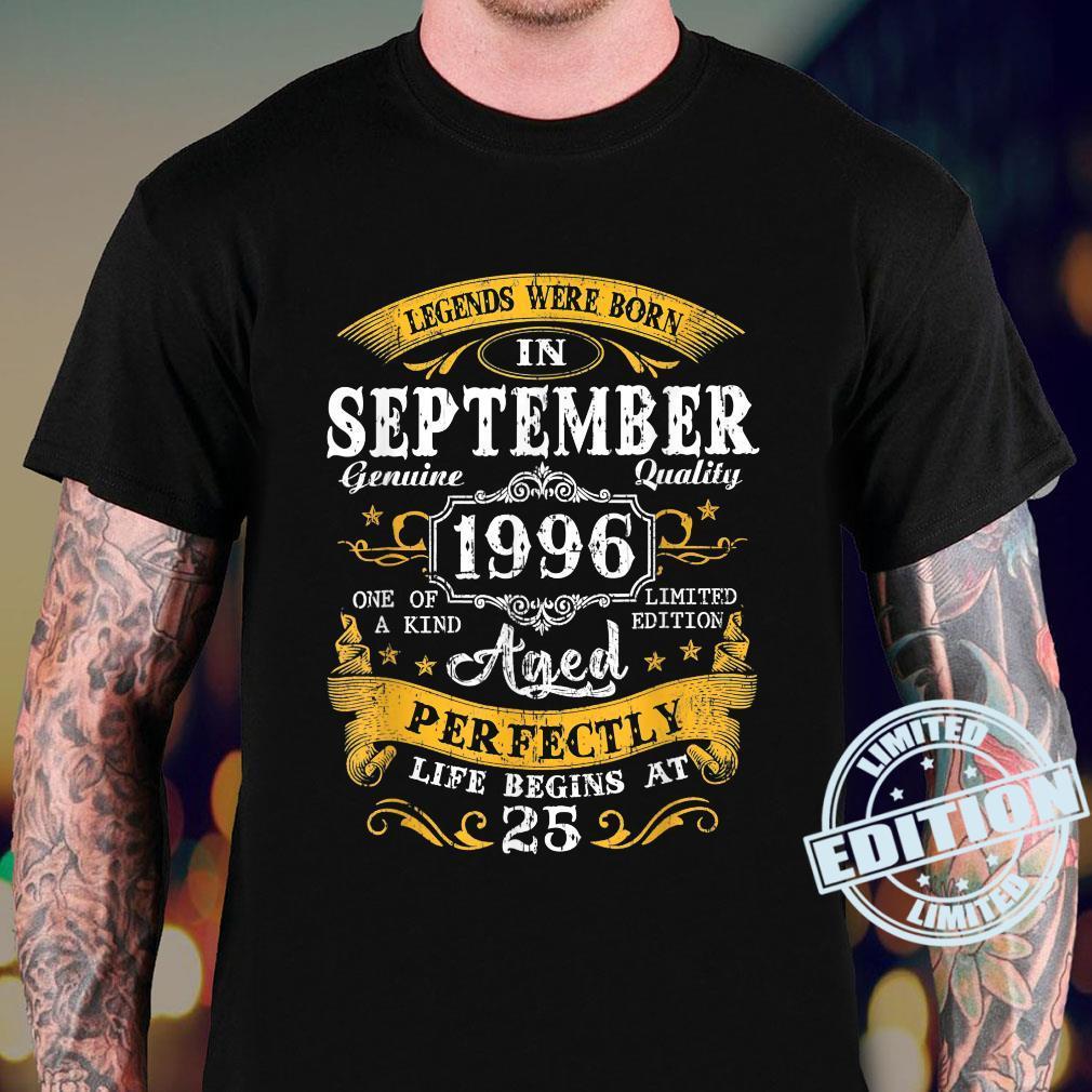Legends Were Born In September 1996 25Th Birthday Shirt sweater