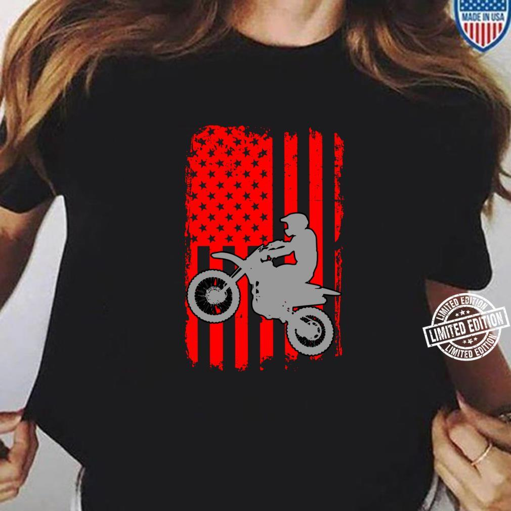 Motocross Dirt Bike Independence day Flag 4th July Shirt Shirt ladies tee
