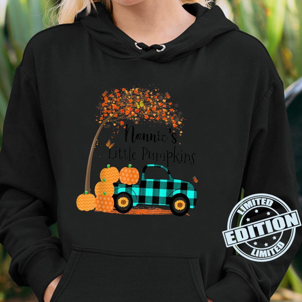 Nonnie 's Little Pumpkins Truck Green Plaid Autumn Art Shirt hoodie