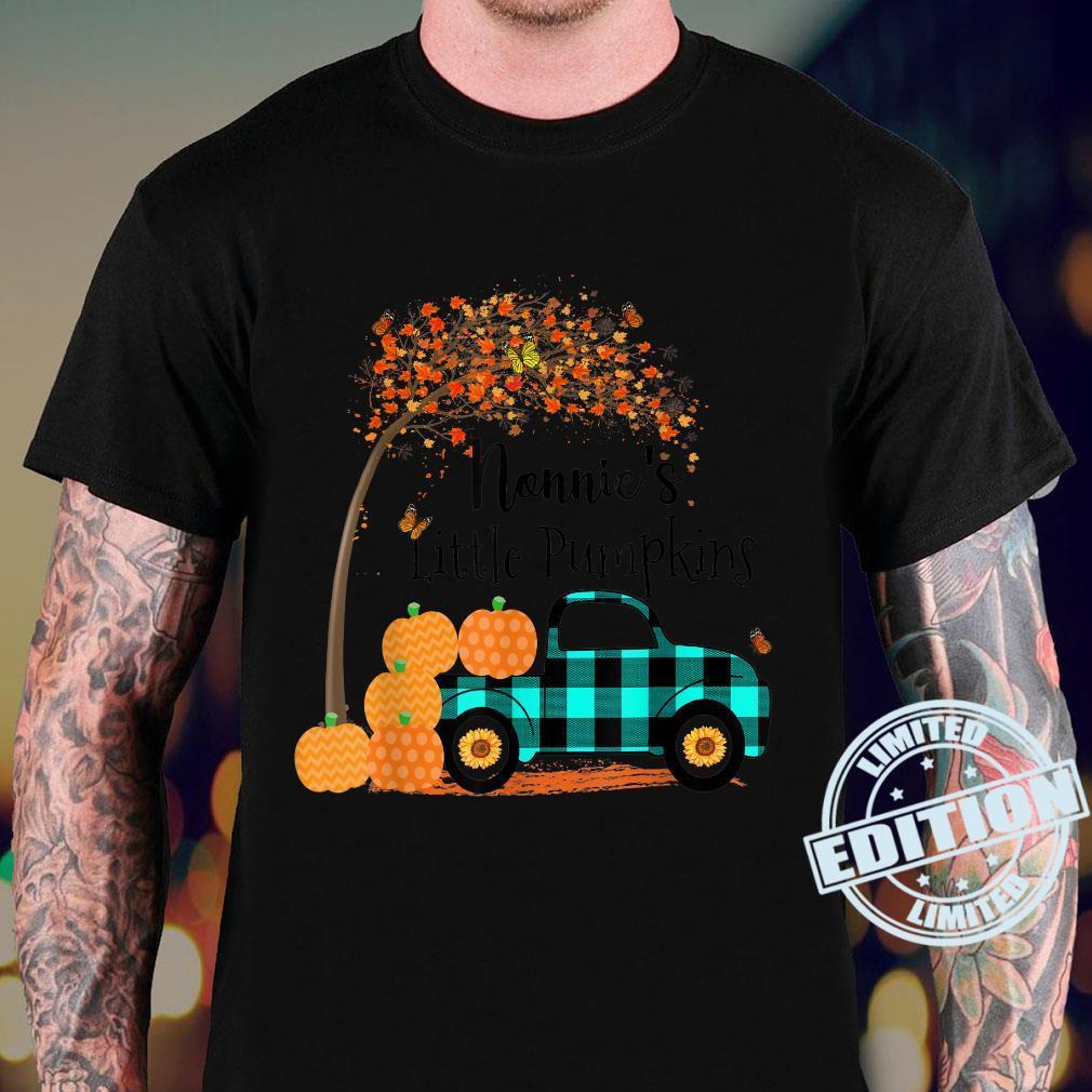 Nonnie 's Little Pumpkins Truck Green Plaid Autumn Art Shirt sweater