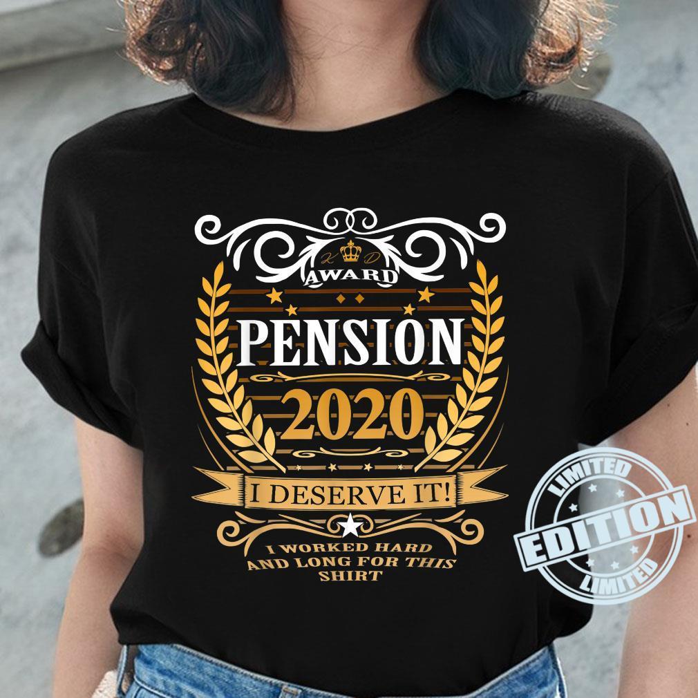 Rentner 2020 Ruhestand Rente Geschenk Shirt ladies tee