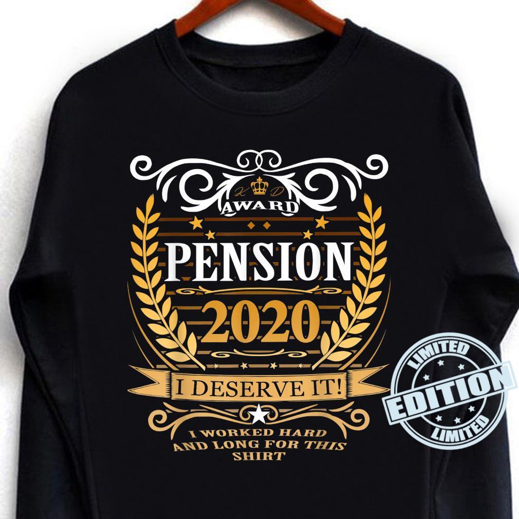 Rentner 2020 Ruhestand Rente Geschenk Shirt long sleeved