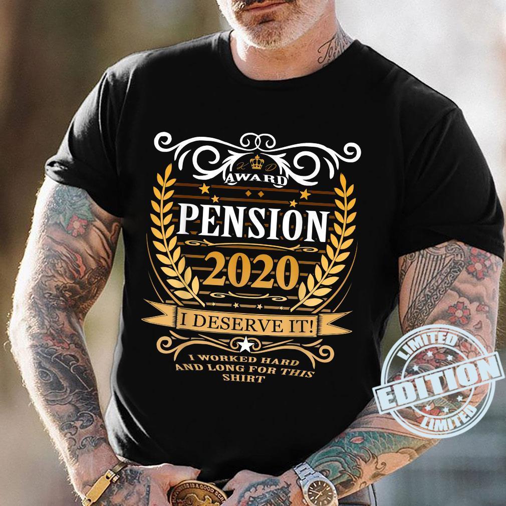 Rentner 2020 Ruhestand Rente Geschenk Shirt