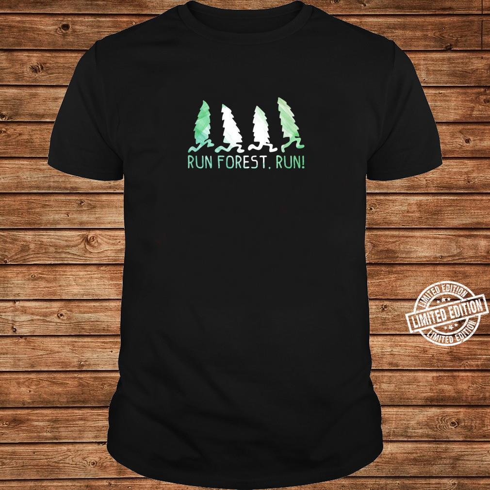 Run Forest Run Shirt Environmental Protection Shirt long sleeved
