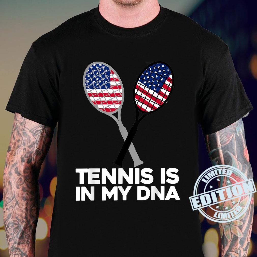 TENNIS IS IN MY DNA, American, USA Flag Sport Shirt sweater