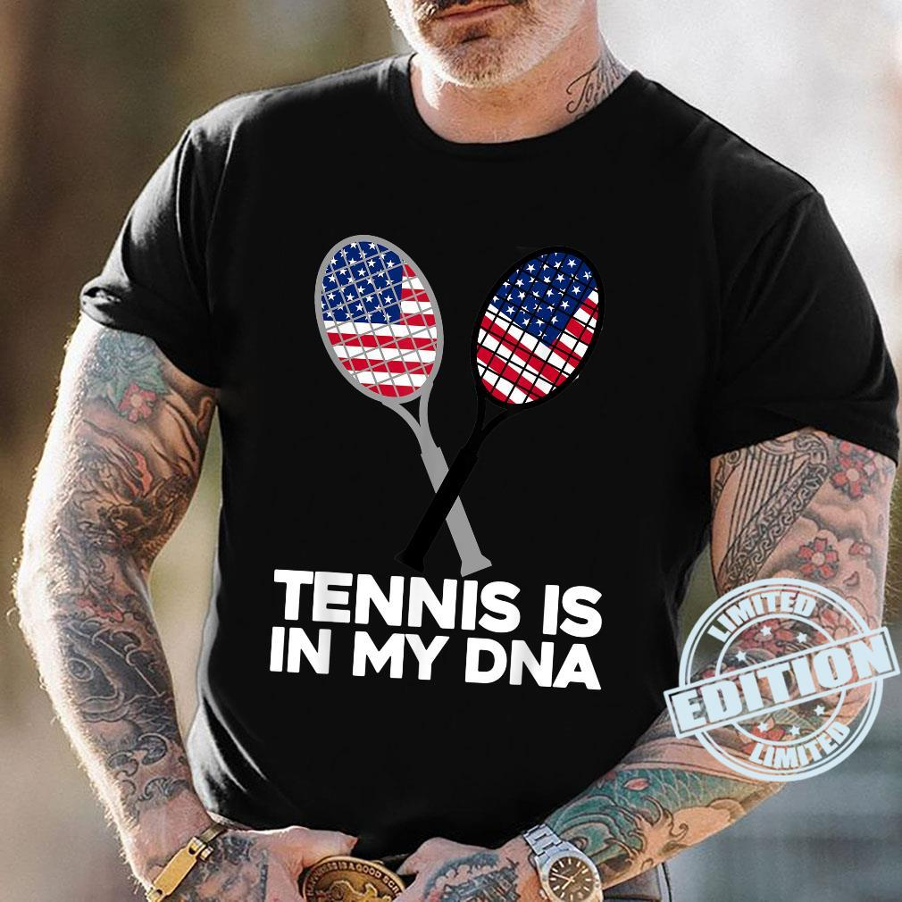 TENNIS IS IN MY DNA, American, USA Flag Sport Shirt