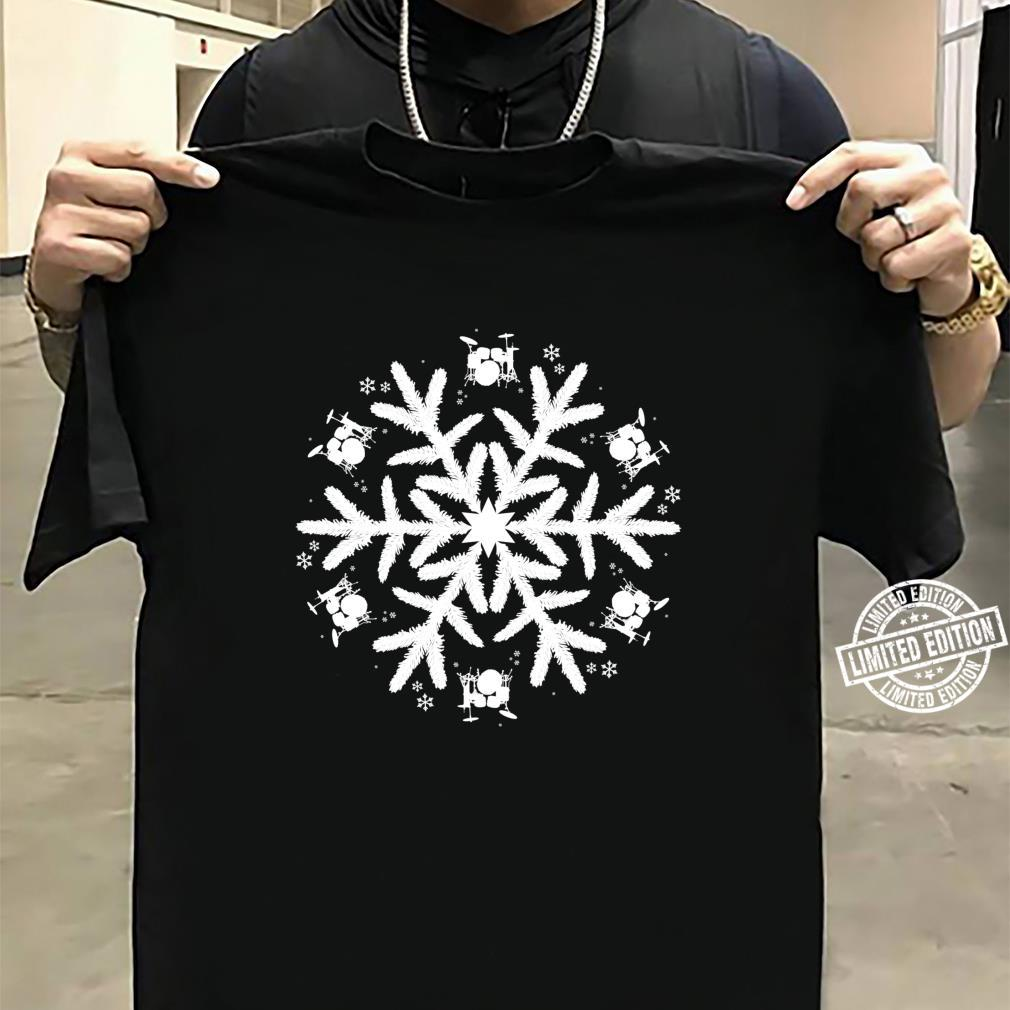 Christmas Drummer Snowflake Drums Shirt sweater