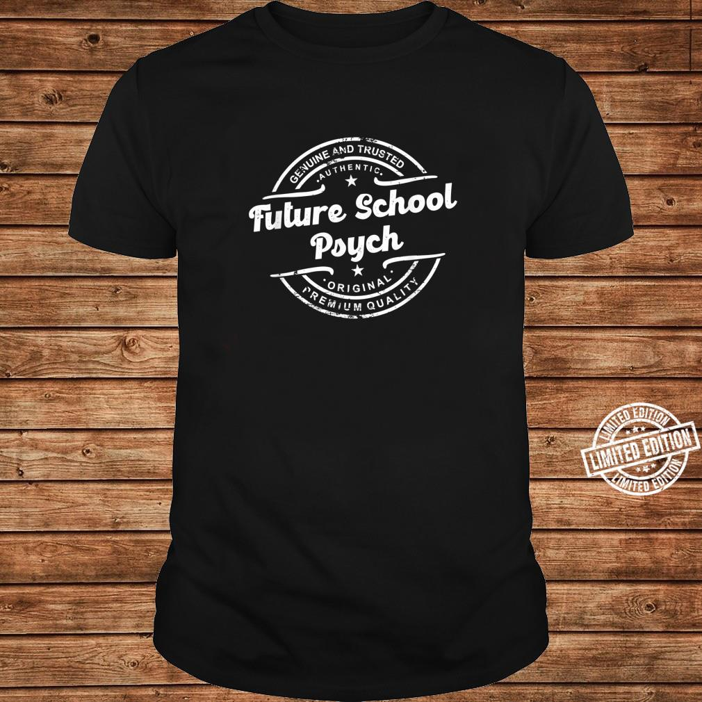 Future School Psych vintage stamp retro distressed logo Shirt long sleeved