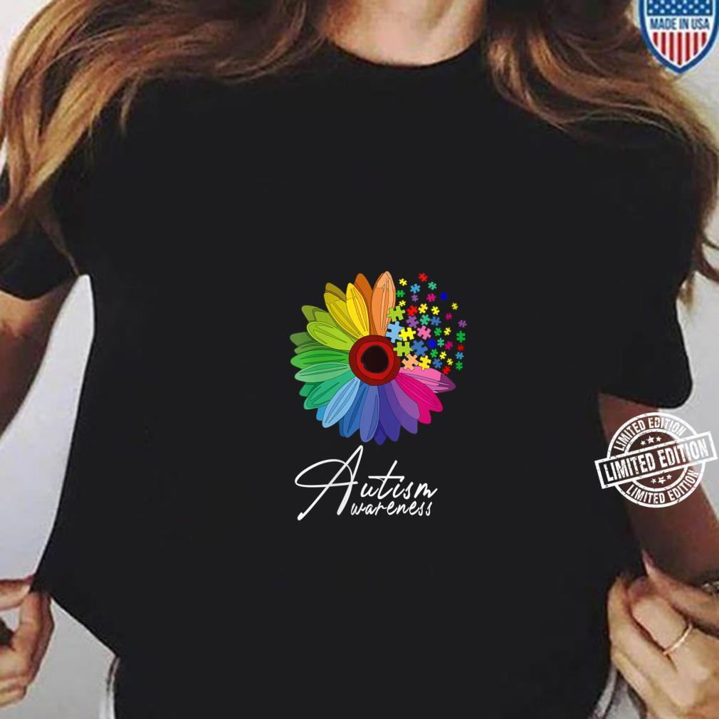 Womens Floral Autism Awareness Daisy Flower Shirt ladies tee
