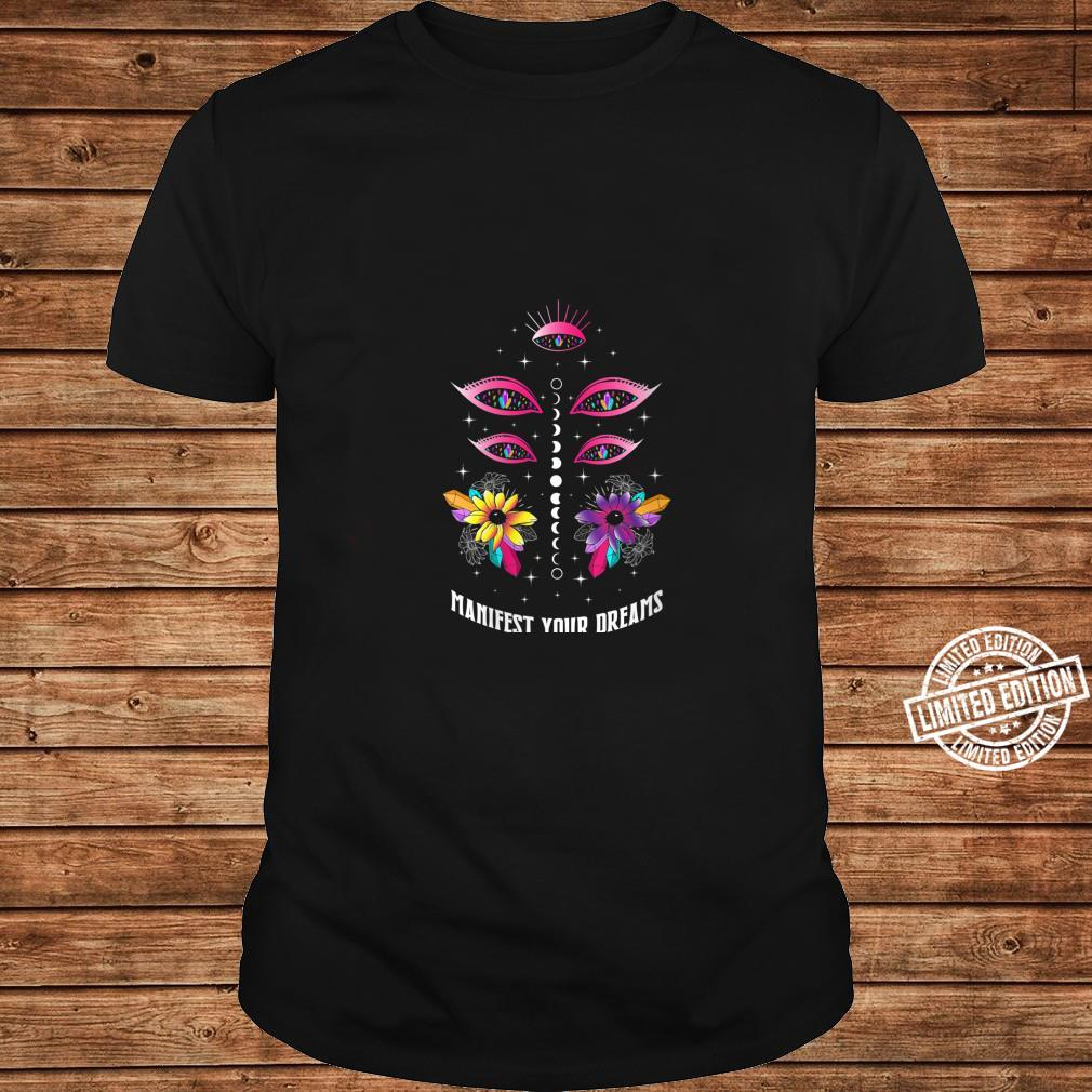 Womens Manifest Your Dreams Fortune Teller Psychic Shirt Crystals Shirt long sleeved
